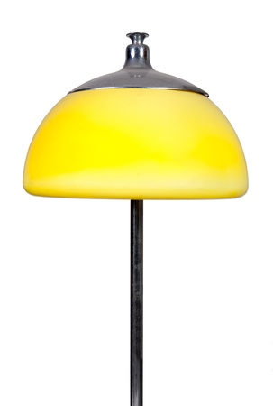 old-fashioned yellow lamp on white background photo