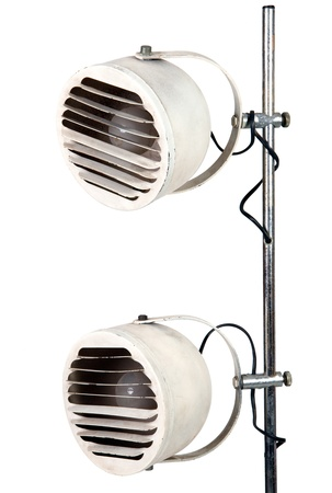 Retro lamp on white background Stock Photo - 12899474