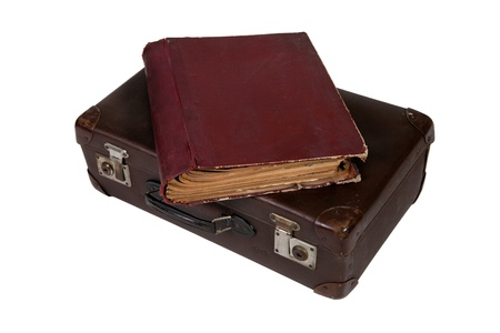 A book on top of old suitcase Stock Photo - 13044981