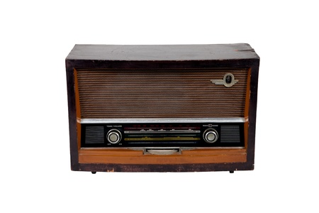 Old vintage brown radio on white backgroud Stock Photo - 13044986