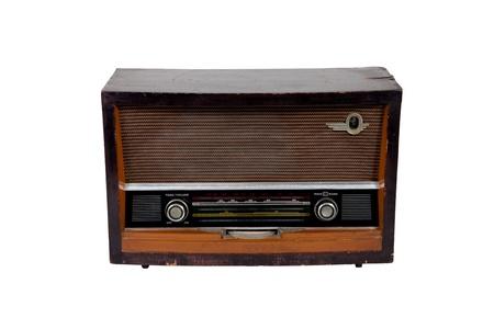 Old vintage brown radio on white backgroud Stock Photo - 13044986