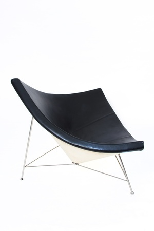 Black modern chair on white background Stock Photo - 13178666