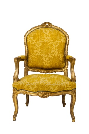 antique chair: Luxury vintage armchair on white background Stock Photo