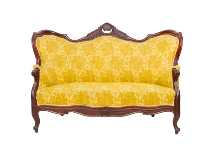 Luxury vintage sofa on white background photo