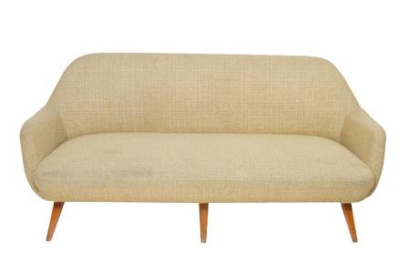 Vintage sofa on white background Banque d'images