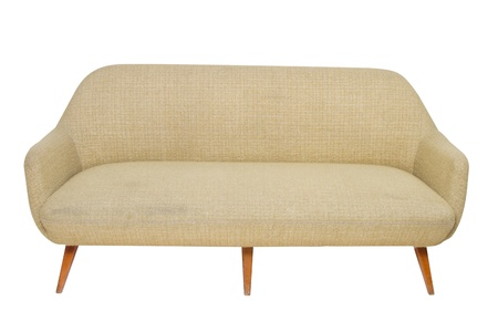 Vintage sofa on white background photo