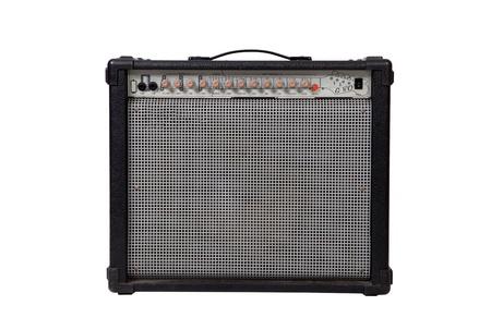 guitar amplifier: Guitar amplifier on white background