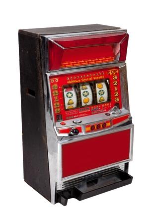 Slot machine on white background