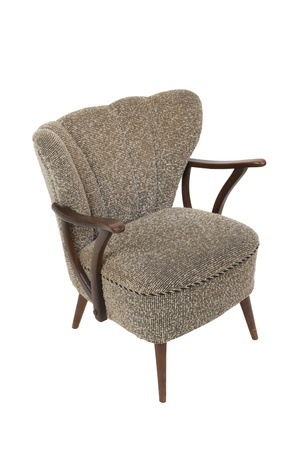 Contemporary armchair on white background