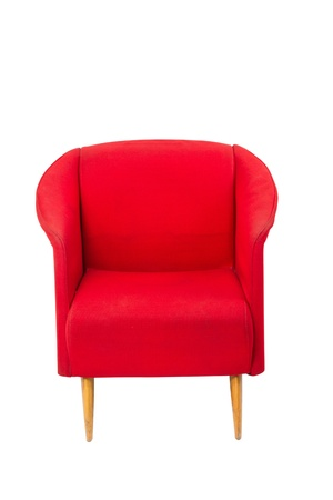 arm chair: Modern styled red armchair on white background Stock Photo