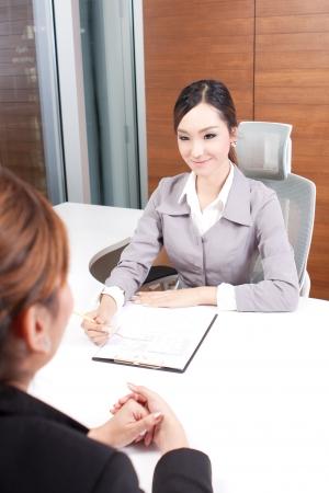 asian businesswoman interviewing