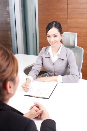 interviewing: asian businesswoman interviewing