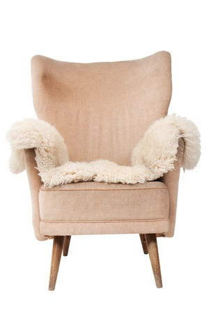 Vintage armchair on white background Banque d'images