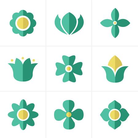 Flat icon  Flower Icons Set, Vector Design