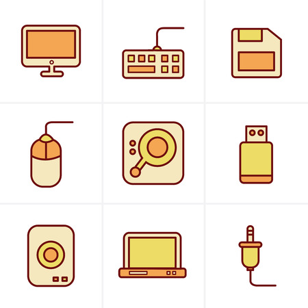 computer icons: Icons Style Computer Icons Set, Vector Design Illustration