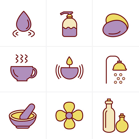 papering: Icons Style  Spa Icons Set, Vector Design