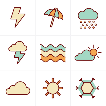 windy day: Icons Style   weather  Icons Set, Vector Design