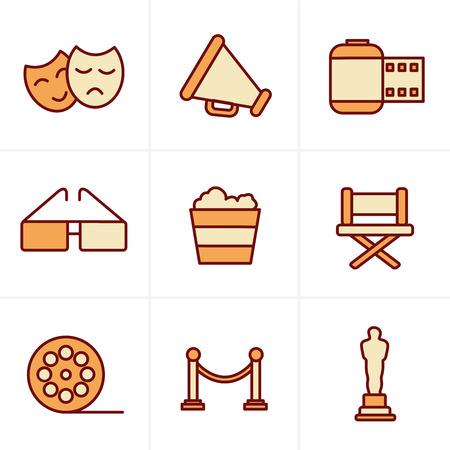 cine: Icons Style Movie Icons Vector design