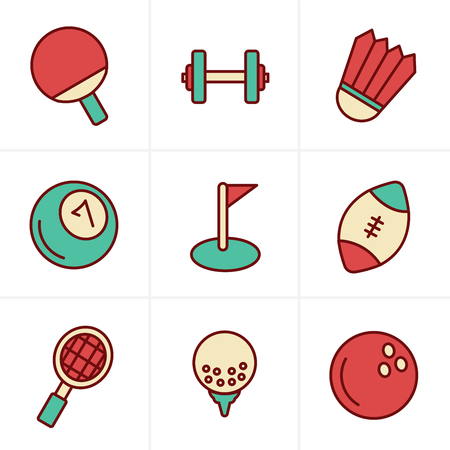 individual sports: Icons Style Sport icons Set, Vector Design