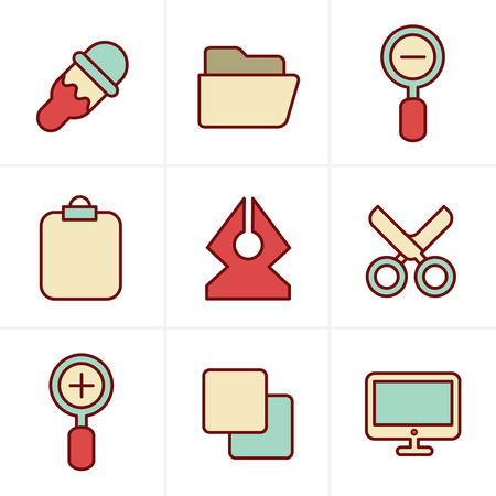 Icons Style Graphic design icons Illustration