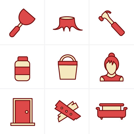 smoother: Icons Style  Icons set carpentry