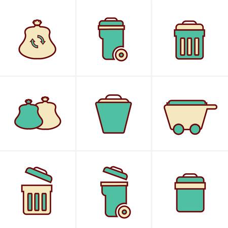 trashing: Icons Style Icons Style  Garbage Icons