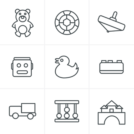 didactic: Line Icons Style  Toys Icons