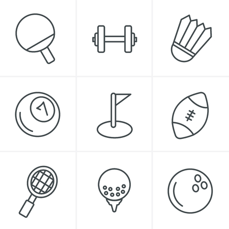 individual sports: Line Icons Style Sport icons Set, Vector Design