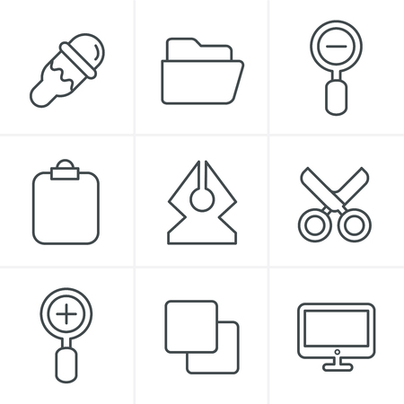Line Icons Style Graphic design icons Illustration