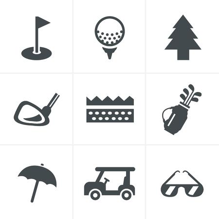 button grass: golf  Icons Set, Vector Design Illustration