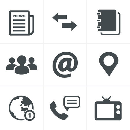 contacts group: Media and communication icons Illustration