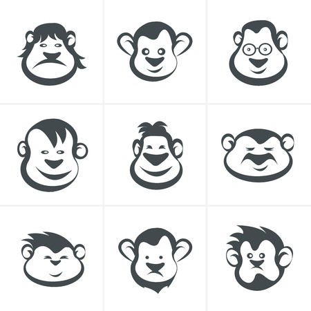 merit: Monkey head icon vector