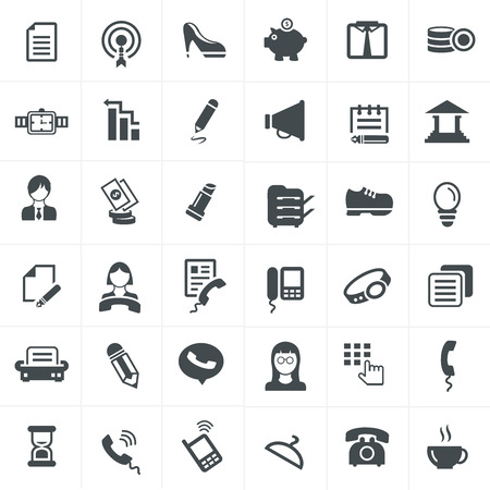 office icons: Business And Office icons set.