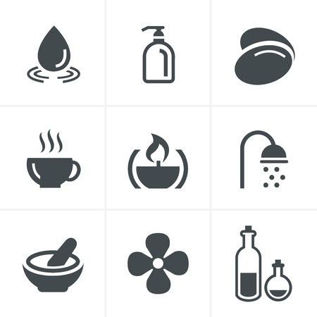 feet care: Spa Icons Set, Vector Design