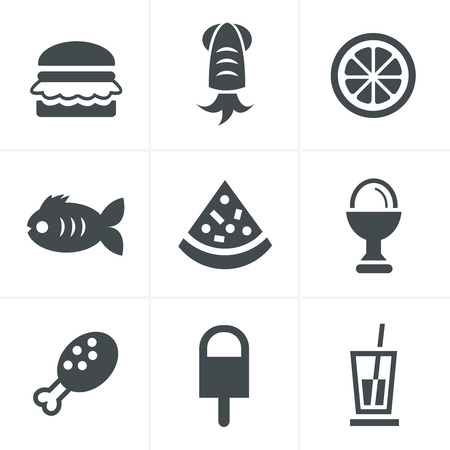 frozen fish: Food Icons Set, Vector Design