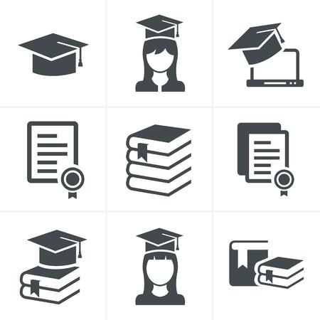 Iconos de la educación establecidos.