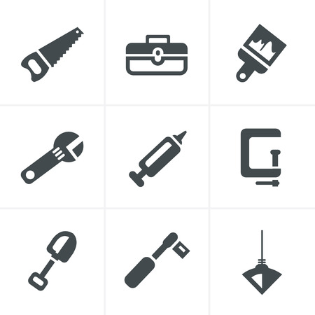 silicone gun: Basic - Tools and Construction icons Illustration