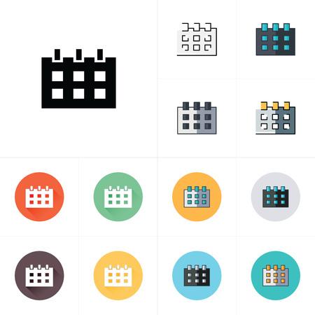 calendar design: Calendar icons design