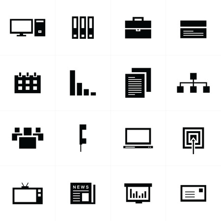 office icons: office icons set Illustration