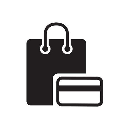 bag icon: Shopping basic icon Illustration