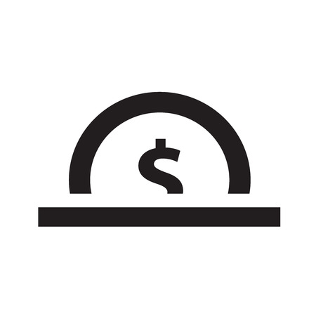 monet: coin icon design vector Illustration
