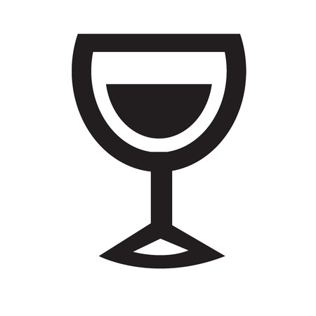 whie wine: Drink alcohol beverage icons