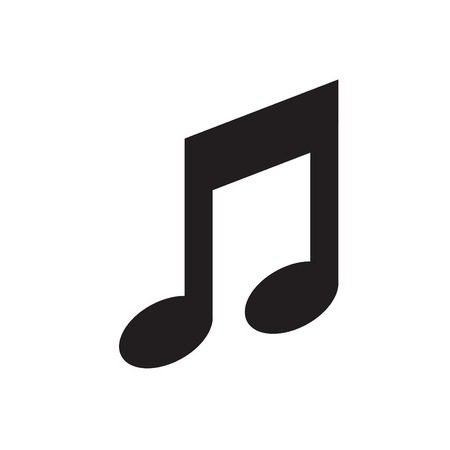 crotchets: Music note icon - Vector