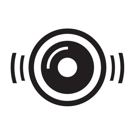 bakelite: turntable disc music icon