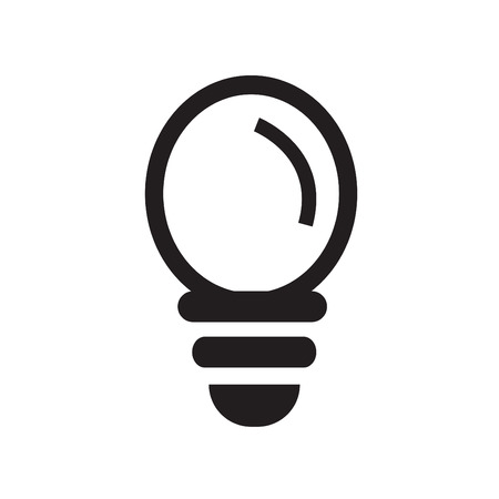 invent clever: Lamp line icon on white background