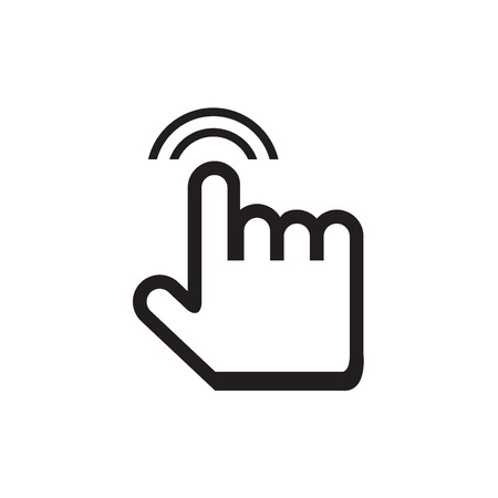 cursor hand: cursor hand icon with shadow on white background