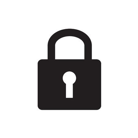 lockout: A padlock isolated against a white background Illustration