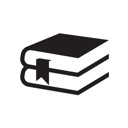 bible open: Simple set of books icon