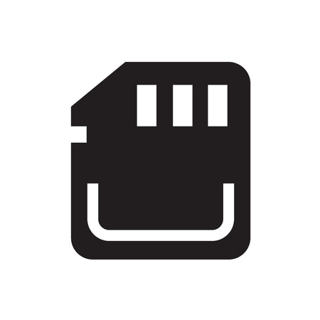 sd card: Vector Icon SD card