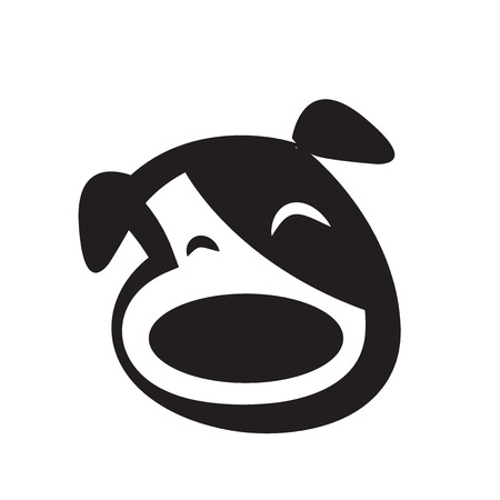 lick: dog icon vector
